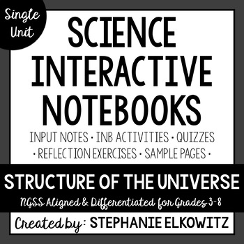 Structure of the Universe Interactive Notebook Unit