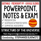 Structure of the Universe PowerPoint, Notes & Exam