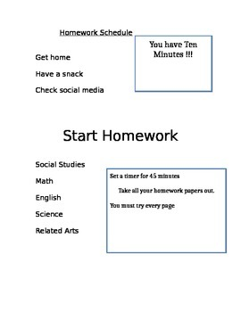 Structure your Homework Time