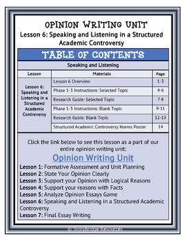 Structured Academic Controversy-Debate Both Sides of an Opinion for Writing