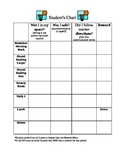 Structured Behavior Chart with Reward Menu