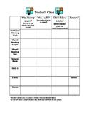 Structured Behavior Chart with Reward Menu