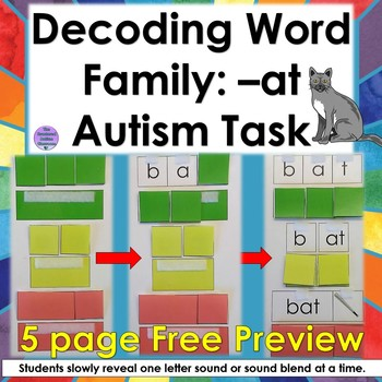 Decoding Word Family- at (Autism and Special Education)