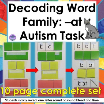 Word Family AT Decoding Task for Autism and Special Education