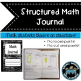 Structured Math Journal