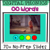 Structured Phonics Digital Presentation with Real Photos for OO Vowel Team Words