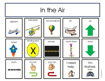 Structured Play Communication Boards for Children with Autism (Transportation)