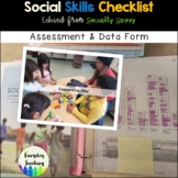 Structured Play Group: Assessment Checklist & Data Form