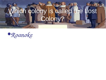 Structured Questioning--Colonial America--PowerPoint