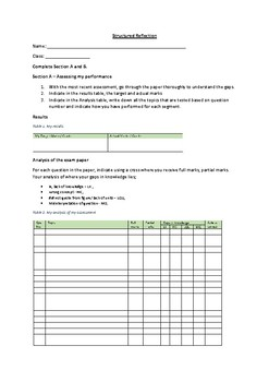 Structured Reflection Template for students