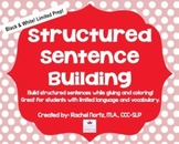 Structured Sentence Building {black & white}