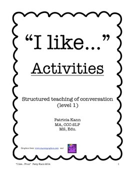 Structured Social Conversation Lesson- Activities