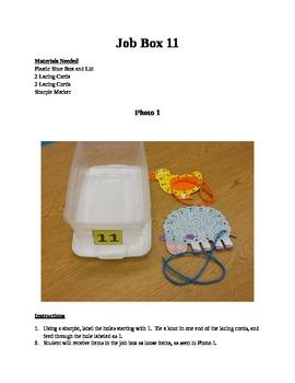 Structured Teaching Job Box 11