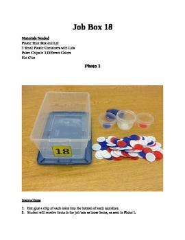 Structured Teaching Job Box 18