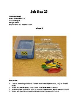 Structured Teaching Job Box 20