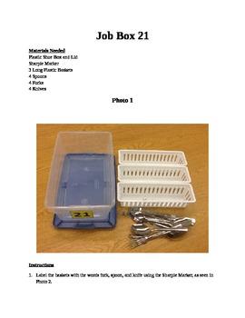 Structured Teaching Job Box 21