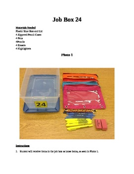 Structured Teaching Job Box 24