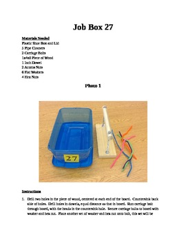 Structured Teaching Job Box 27