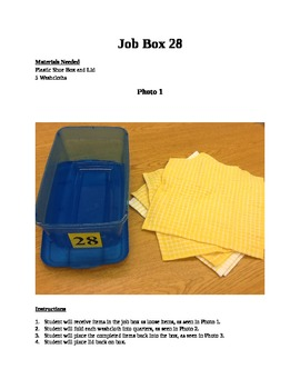 Structured Teaching Job Box 28