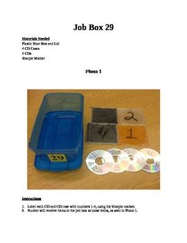 Structured Teaching Job Box 29