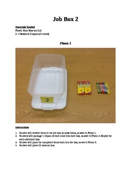 Structured Teaching Job Boxes 1-30