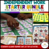 Structured Work System Starter Bundle: Autism Basic Skills -Kit and Tasks