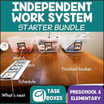 Structured Work System Starter Bundle: Autism Basic Skills -Kit and Tasks