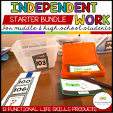 Independent Work System Middle & High School Life Skills Starter Bundle