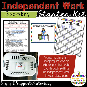 Independent Work System Starter Kit for Autism--Secondary Version