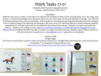 Structured Work Tasks 17-21