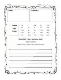 Structured Writing Page