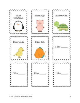 Structured social conversation lesson animals