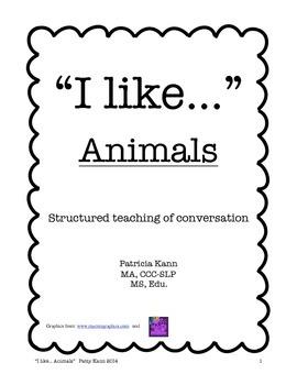 Structured social conversation lesson animals
