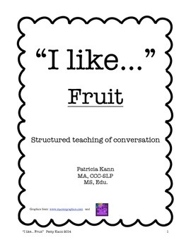Structured social conversation lesson- fruit