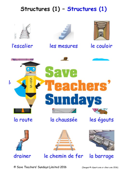 Structures 1 in French Worksheets, Games, Activities and Flash Cards