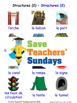 Structures 2 in French Worksheets, Games, Activities and Flash Cards