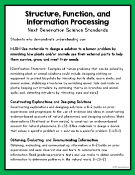Structures, Function, and Information Processing (Aligned with NGSS)