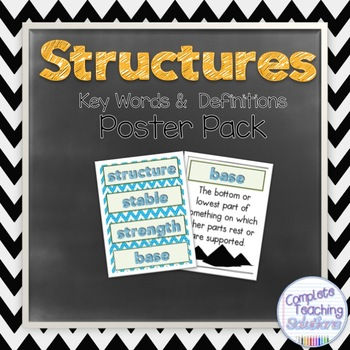 Structures: Vocabulary Posters