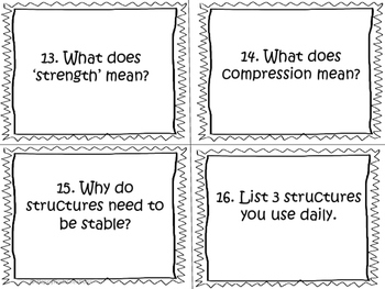 Structures Task Cards