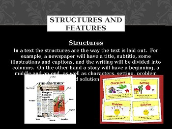 Structures and Features - Response to literature