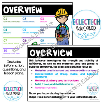 Science - Structures and Materials Anchor Chart and Word Wall