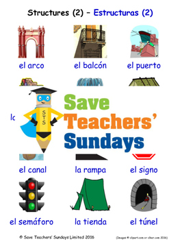 Structures in Spanish Worksheets, Games, Activities and Flash Cards (2)