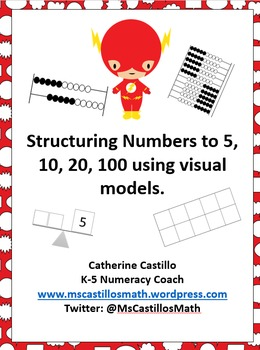 Structuring Numbers 5, 10, 20, 100 AVMR Math Station Activities and Mats Pre-K-2
