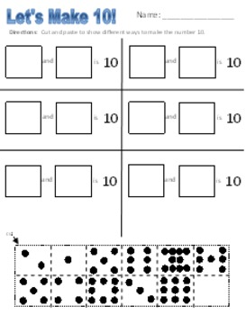 Structuring Numbers to 10 worksheets