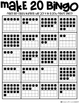 Structuring Numbers to 20
