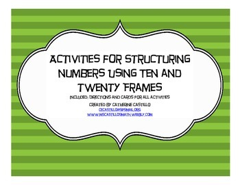 Structuring to 10 and 20 using Ten Frames and Twenty Frames