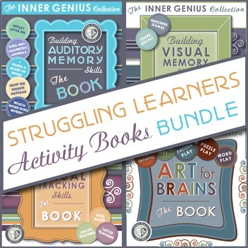 Struggling Learners Activity Books BUNDLE Includes 4 Skill-Building Books in 1