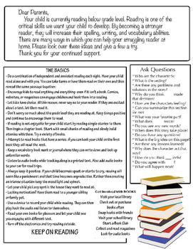 Parent Letter: Struggling Reader Grades 2-6