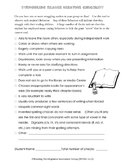 Struggling Readers Behavior Checklist
