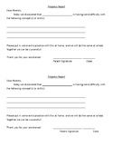 Struggling Student Progress Report